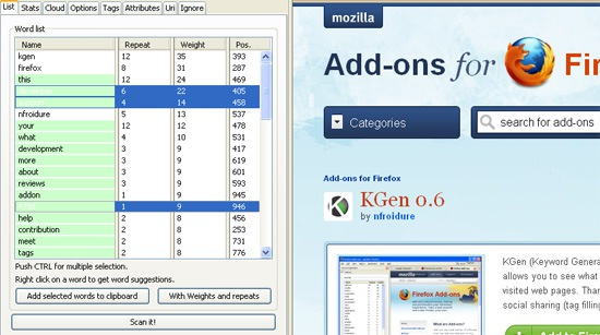 Firefox Friday: Research On-Page Keywords with KGen