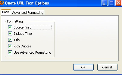 QuoteURLText settings