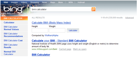 Bing Integrates Wolfram Alpha in Search Results