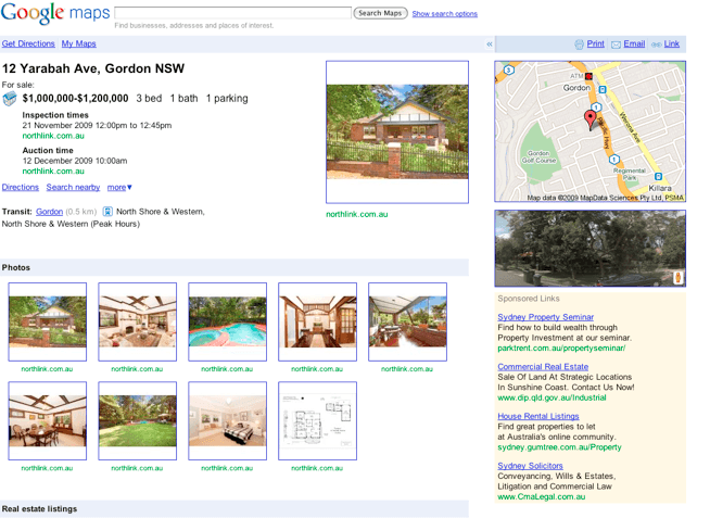 Google Combines Search and Real Estate