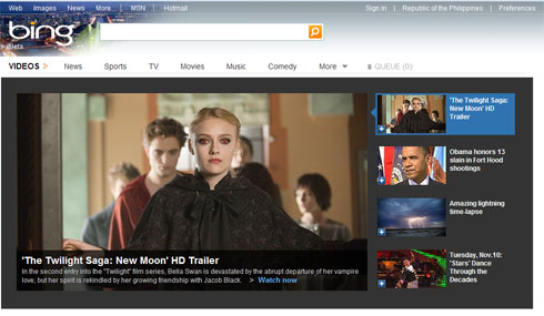 Bing Integrates MSN Videos and Video Search