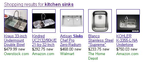 Google Shopping Results : User Experience Downfall