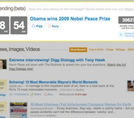 New Digg Feature: Trending Topics