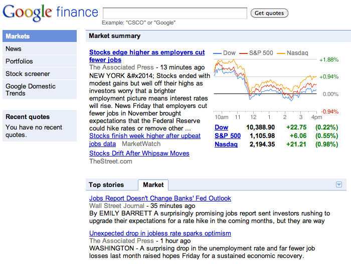 Google Finance Streams Real-Time News
