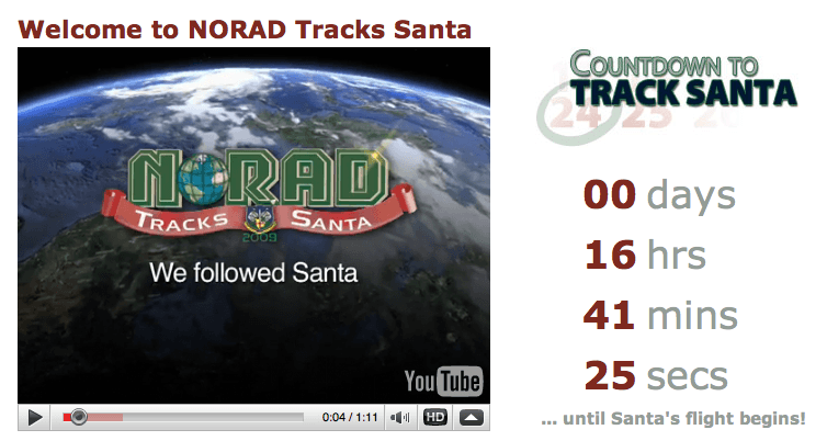 Norad Santa Tracker 2010 : Track Santa on Google, Facebook & Twitter