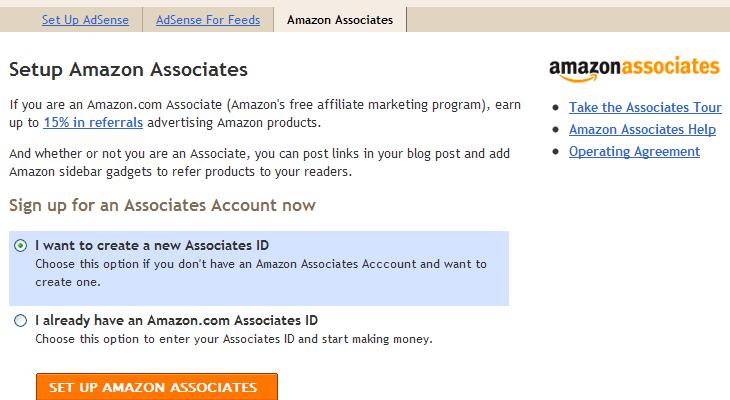 Google Blogger Integrates Amazon Associates