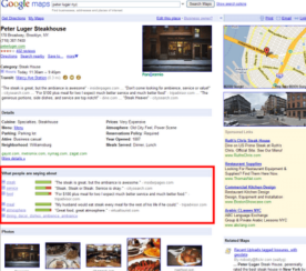 Google Ranks and Color Codes Businesses on Place Pages
