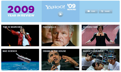 MJ, Twilight  Top Yahoo Overall Searches in 2009