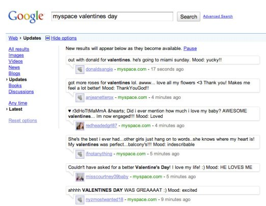 Google Integrates MySpace to Search, But Not Proud of it