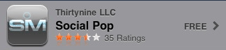 Social Pop iPhone app