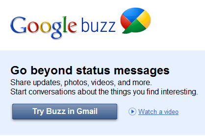Introducing Google Buzz! GMail Social Sharing