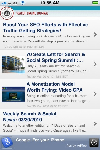 Top 5 iPhone Apps for Search & Internet Marketers