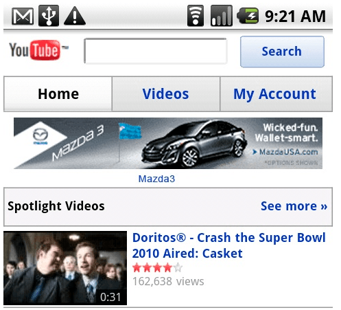 YouTube Mobile Now Serving Banner Ads
