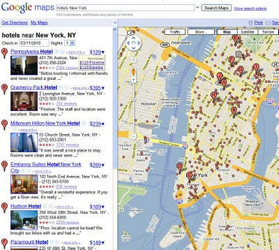 Google Tests Hotel Price Listings on Google Maps