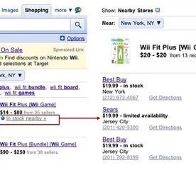 Google Adds Blue Dots to Product Search Results