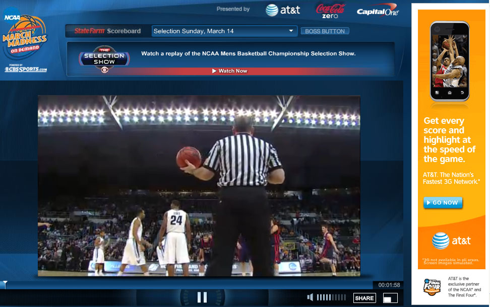 Watch NCAA March Madness Live Streaming Video Online
