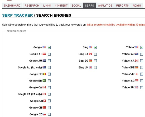 Advanced Search Engine Rankings Tracker – Raven Tools