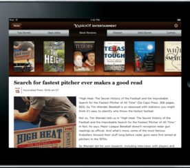 Yahoo Brings its Entertainment Portal to the iPad