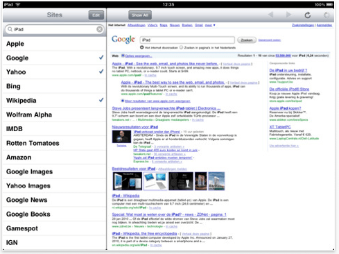 8 Search Engine Related iPad Apps