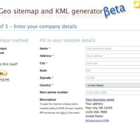 Local Search Recipe: Making KML Files and GEO Sitemaps Are a Piece of Cake.