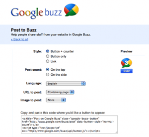 Google Releases Official Buzz Share Buttons