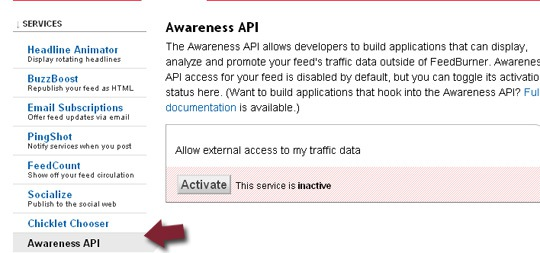 Enable Awareness API