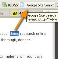 Google site search - Milly's Bookmarklets