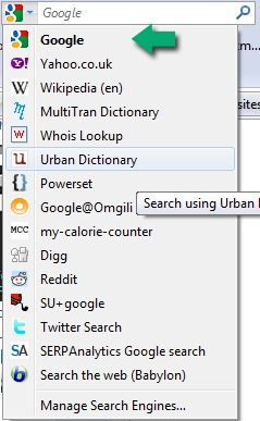 Change Default Search Engine in Firefox