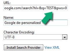 Change Default Search Engine in Internet Explorer 8