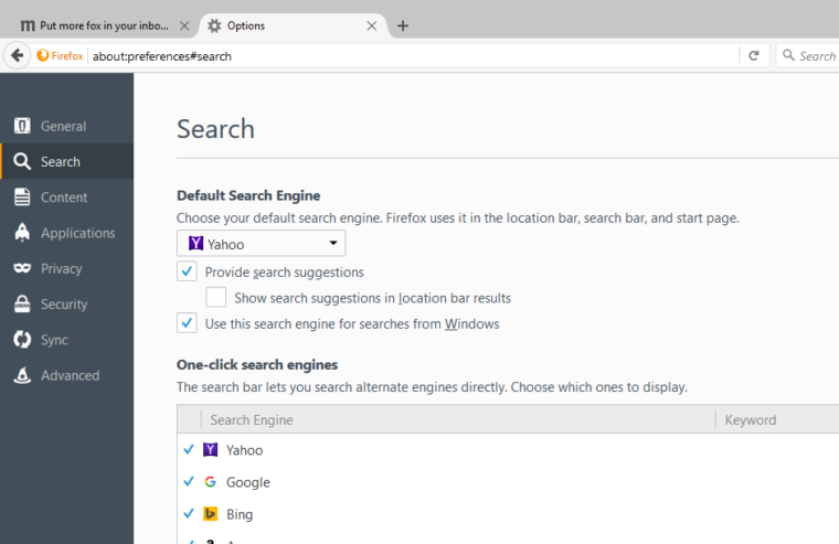 How to Change FireFox Default Search Engine - YouTube