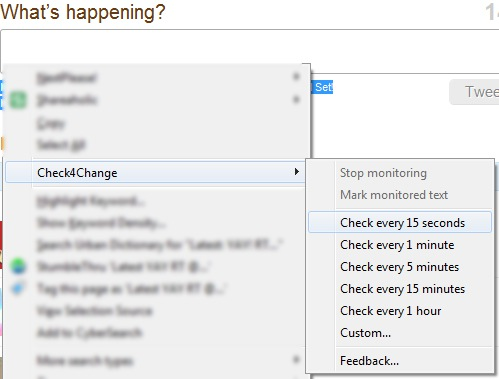 FireFox Check for Change