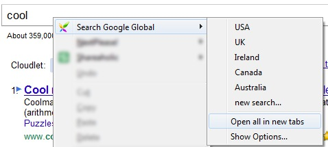 Google Global FireFox
