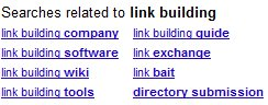 Google Searches Related to Link Building