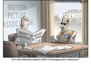 intellectual property cartoon by Clay Bennet.