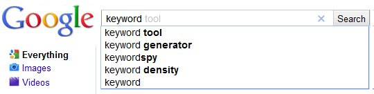 Google Keyword Suggest