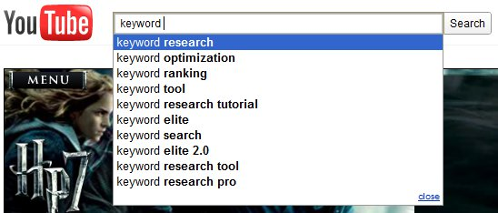 YouTube Keyword Suggest