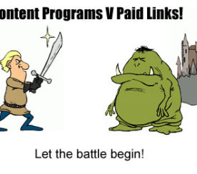 Paid Links V Content Programs