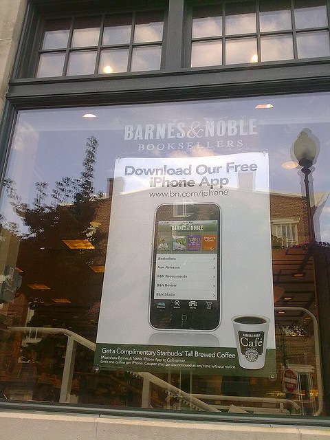 Barnes & Noble offering free coffee if you show that you installed their iPhone app.
