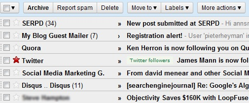 Gmail Personal level indicators
