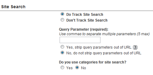 Track site search