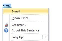 email capitalize