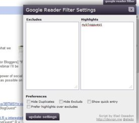 Highlight Your Brand Name in Google Reader Search Results