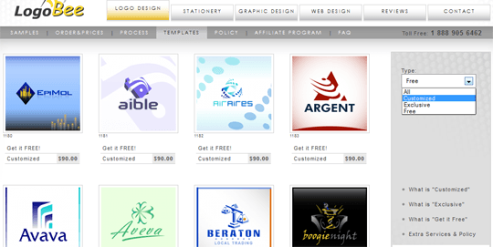 LogoBee: The Huge Collection of Customized Logos for Your Inspiration