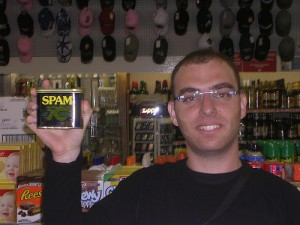 The man with the spam.