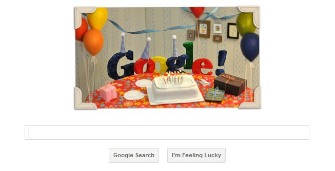 Google Birthday Turns 13