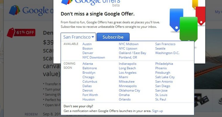 Groupon in the Crosshairs: Google Offers Launches in Five New Cities