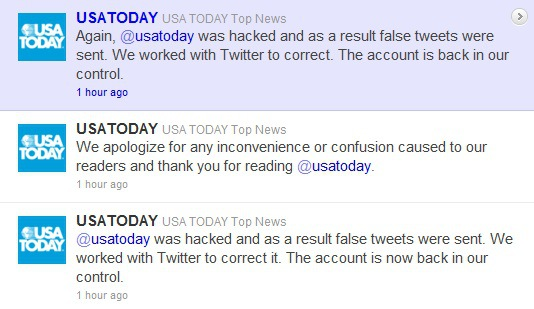 Script Kiddies Hack USA Today Twitter Account