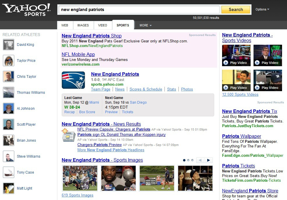 Yahoo! Search Launches New Design and Features