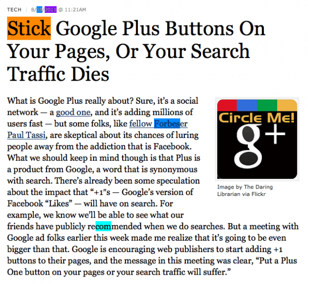 "Does the Google +1 Button Signal the End of ""Don't Be Evil""?"