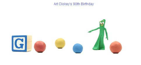 Google Art Clokey 90th Birthday
